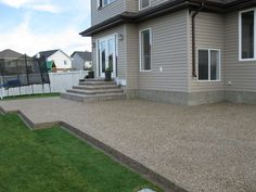 IntelCrete Concrete Works: Exposed Aggregate Completed In Winnipeg MB