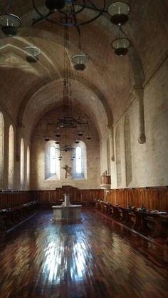 Comedor de los frailes del.monasterio de Poblet .. España ..