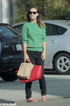 Mom-to-be Olivia Wilde was out and about in LA days before news broke that she's pregnant!