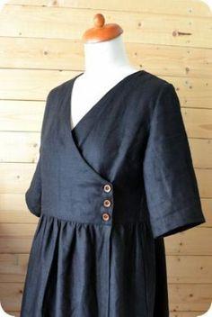 Best Ideas For Diy Fashion Dresses Crop Tops - Fashion Show Motif Kimono, Kimono Pattern, Linen Dress Pattern, Wrap Pattern, Diy Fashion Dresses, Trendy Dresses, Fashion Ideas, Short Dresses, Sewing Clothes
