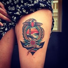 Cute Nautical On Thigh For Girls