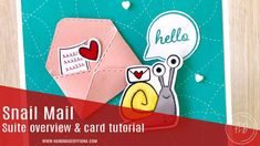 Snail Mail card tutorial and suite overview - Stampin' Up! - Fiona Bradley Snail Cards, My Crazy, Pli, Paper Pumpkin, Snail Mail, Valentines, Valentine Cards, Stampin Up, Finding Yourself