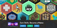 DIY: a maker site for kids What it is: I LOVE everything about this site.  It truly embodies everything I love about learning and technology.  DIY is an online club for kids to earn maker skills.  Kids (otherwise known as Makers) share their creations and work with a larger online community and collect patches for the skills they learn.