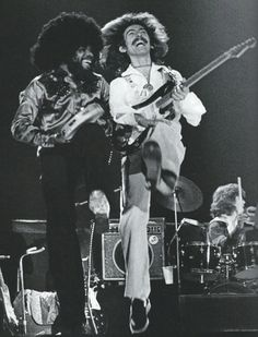 "Scan - Billy Preston and George Harrison, the Dark Horse Tour, Scanned from LIFE Remembering George Harrison: 10 Years Later. Photo © LIFE """"[At the Fort Worth concert, 22 November George. 70s Music, Music Film, Music Icon, Rock Music, George Harrison, Olivia Harrison, Foto Beatles, Les Beatles, Rock N Roll"