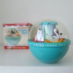Vintage 1970s Baby Toy Fisher Price Chime Ball - I wonder if my mom still has ours...