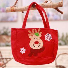 352bf0f61 0.51 5% de DESCUENTO Lindo Santa Claus muñeco de nieve caramelos bolsas de  regalo galletas bolsas de embalaje bolso de fiesta Feliz Navidad Paquete de  ...