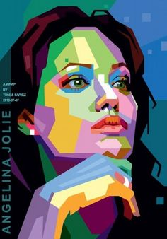 A great collection of WPAP (Wedha's Pop Art Portrait) by Toni Agustian. A Modern Pop Art Style Found by Mr. Wedha Abdul Rasyid, the Illustrator of Hai Magazine. Abstract Portrait, Portrait Art, Abstract Art, Color Portrait, Portrait Paintings, Acrylic Paintings, Art Paintings, Painting Art, Portraits Pop Art