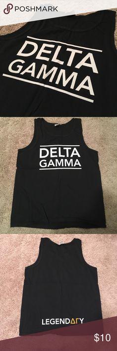Delta Gamma Legendary tank Comfort colors size medium. Never worn! Delta Gamma comfort colors Tops Tank Tops