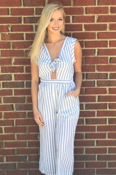 2ae69910532 Dreaming of Paradise Jumpsuit- Cream Blue