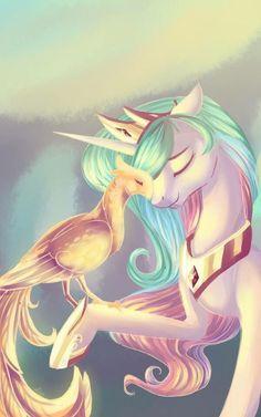 👑 Princess Celestia with her pet phoenix 👑 My Little Pony Princess, Mlp My Little Pony, My Little Pony Friendship, Princesa Celestia, Celestia And Luna, Dessin My Little Pony, My Little Pony Drawing, Equestria Girls, Powerpuff Girls