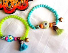 Wholesale Delicate   Evil Eye Bracelets Seed Bead by monroejewelry
