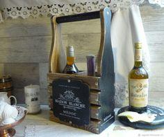 Мини бар, бутылочница ,,France,, – купить в интернет-магазине на Ярмарке Мастеров с доставкой Decoupage, Shabby Chic, How To Make, Crafts, Home Decor, Wooden Crafts, Boxes, Wine Boxes, Wine
