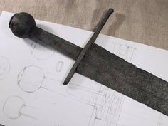 Sword, Type XIIIb, late 13th to early 14th century, from Stockholm Sweden. It served as the inspiration for Albion Sword's Museum Line Tritonia. (From the Albion Swords webpage).