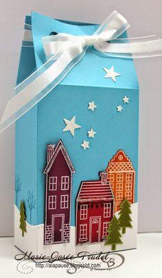 A La Pause: Boîte à Pignon Comme Chez Nous - Holiday Home Gable Box Marie-Josée Trudel Stampin Up SU