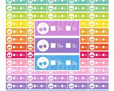 Printable Vitamins stickers Printable Vitamins Planner Stickers Printable planner Stickers for Erin Condren planner stickers Rainbow by EnjoyPlanning on Etsy
