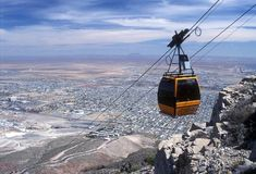The Swiss-made gondolas at Wyler Aerial Tramway in El Paso will give you a good look at 3 states, 2 nations, and clouds you can almost touch.