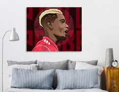 Discover «Paul Pogba_Illustration», Limited Edition Canvas Print by David Haralambidis - From 69€ - Curioos
