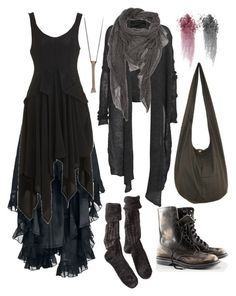 """""""Wood witch No. 8"""" by n-nyx ❤ liked on Polyvore featuring Yohji Yamamoto, Rachel Entwistle, Helmut Lang, Polder, Faliero Sarti, H&M and NARS Cosmetics"""