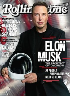 Elon Musk photographed in Hawthorne, California, on October 5th. Mark Seliger for Rolling Stone