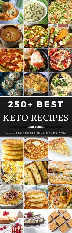 250+ Best Keto Recipes from Prudent PennyPincher.
