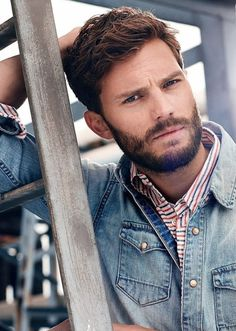 medium-stubble-beard Modern Beard Styles, Medium Beard Styles, Beard Styles For Men, Hairy Men, Bearded Men, Jamie Dornan, Stubble Beard, Nick Bateman, David Gandy