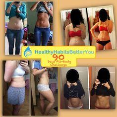"""4 ragazze che si sono iscritte al nostro programma """"90days Fit-Body Challenge"""". Questi i risultati dopo 60 Giorni"""