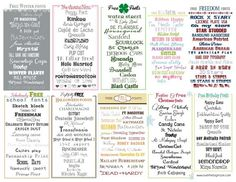 Font Cheat Sheet | Over The Big Moon