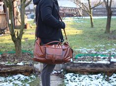 Excited to share the latest addition to my #etsy shop: Large Handmade Leather Travel Bag / Matte Leather Duffle Bag / Overnight Bag /Rustic Brown Leather Travel Bag / Vintage Leather Duffle Bag http://etsy.me/2Ec4EVm