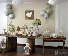 Sheep / Lambs Baptism Party Ideas | Photo 1 of 12 | Catch My Party