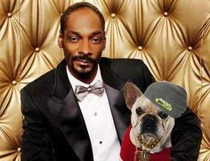 Photo of Snoop Dogg & his  Dog Juelz