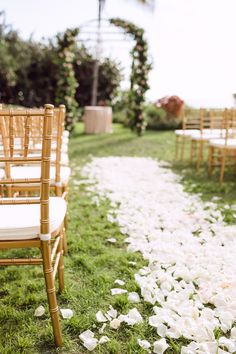 Aisle of petals. Isn't She Lovely Florals. Photography: Hunter Ryan Photo - www.hunterryanphoto.com