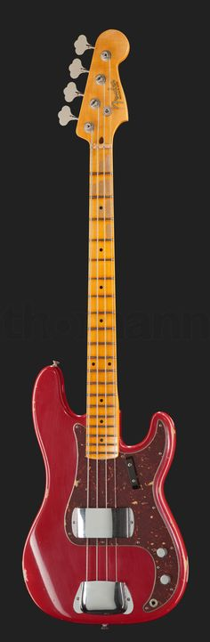 Fender 59 P-Bass Relic Dakota Red