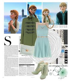 """""""Anna Ending Outfit Fall Fashion (Read the D!)"""" by lydiarts ❤ liked on Polyvore featuring Disney, Rebecca Minkoff, But Another Innocent Tale, Diane Kordas, H&M, WALL and Fendi"""