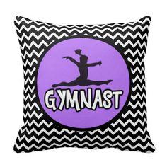 Chevron Gymnast Pillow