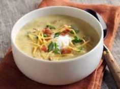 Baked Potato Soup:) I have been looking for this recipe since high school!