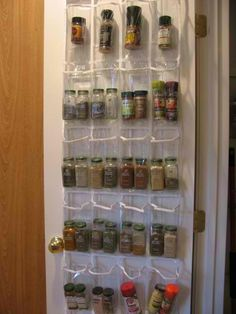 Clever Use Of An Over The Door Shoe Organizer Pantry Hanging