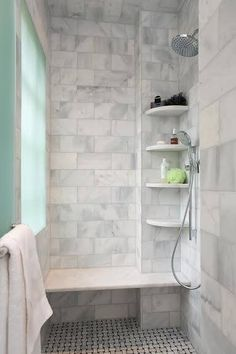10 Simple and Ridiculous Tips Can Change Your Life: Fiberglass Shower Remodel Ideas shower remodeling ideas bathtubs.Stand Up Shower Remodel Cheap. Ada Bathroom, Handicap Bathroom, Bathroom Renos, Master Bathroom, Bathroom Ideas, Shower Ideas, Bench In Bathroom, 1950s Bathroom, Narrow Bathroom
