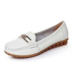 Ladies flat shoes/Comfortable soft nursing shoes/Inside leather plus size casual shoes-A Foot length=25.8CM(10.2Inch) - Brought to you by Avarsha.com
