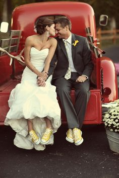 I bet this is gonna be me at my wedding. Screw high heels, I'll wear my hightop Converse :)