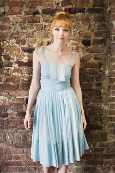 Sale - Blue Summer Vintage Dress. $45.00, via Etsy.