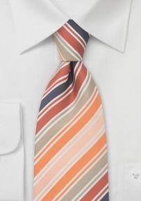 Designer Tie in Peach, Orange, Tan, and Purple