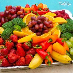 vibrant fruits and veggies :)