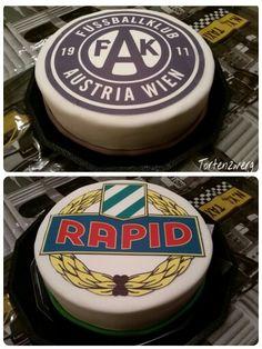 Rapid austria wien torte cake fondant Tortenzwerg Torte Cake, Cake Fondant, Awesome Cakes, Austria, Desserts, Food, Birthday Cake Toppers, Football Soccer, Kuchen