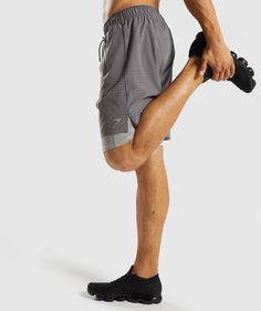 3df6e8df982 Gymshark Superior 2 In 1 Training Shorts - Smokey Grey Light Grey