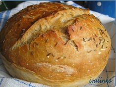 domaci-chleb-bez-hneteni Bread Recipes, Cooking Recipes, Russian Recipes, Food And Drink, Baking, Sweet, Arbour, Polish, Kitchen