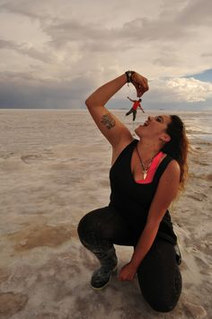 When hungry appears at the Salar de Uyuni