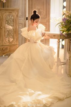 Beautiful White Embroidery Hollow Long Dress Gown Medieval Dress Renaissance Gown Victorian Gown, You can collect images you discovered organize them, add your own ideas to your collections and share with other people. Bridal Dresses, Wedding Gowns, Flower Girl Dresses, Prom Dresses, Renaissance Dresses, Medieval Dress, Pretty Dresses, Beautiful Dresses, Victorian Gown