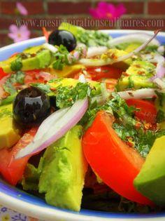 salade de tomate et avocat
