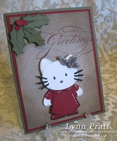 Stampin' Up!  Butterfly Punch  Lynn Pratt  Hello Kitty