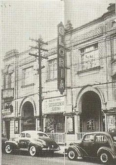 Década de 40 - Cine Glória na rua do Gasômetro.